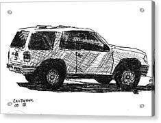 Ford Explorer Acrylic Print by Eric Tressler