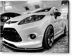 Ford Fiesta In Hdr Acrylic Print by Vicki Spindler