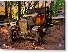 Ford Flatbed Truck Acrylic Print by Glenn McCarthy Art and Photography