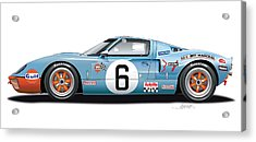 Ford Gt 40 1969 Acrylic Print