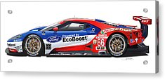 Ford Gt Le Mans Illustration Acrylic Print