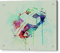 Ford Gt Top Watercolor  Acrylic Print