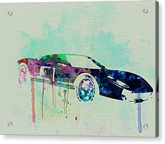 Ford Gt Watercolor 2 Acrylic Print by Naxart Studio