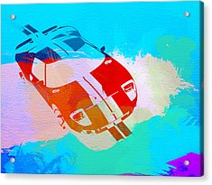 Ford Gt Watercolor  Acrylic Print