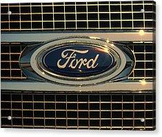 Ford Acrylic Print by Kathy Clark
