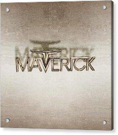 Ford Maverick Badge Acrylic Print