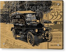Ford Model T Made Using Found Objects Acrylic Print by Design Turnpike