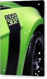 Ford Mustang - Boss 302 Acrylic Print by Gordon Dean II