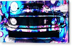 Ford Mustang 1969 Acrylic Print by Sir Josef - Social Critic - ART