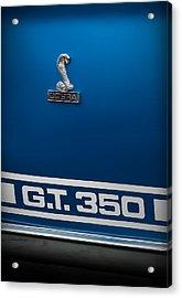 Ford Mustang G.t. 350 Cobra Acrylic Print