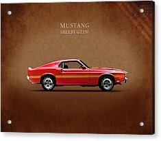Ford Mustang Shelby Gt350 1969 Acrylic Print by Mark Rogan