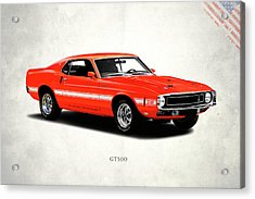 Ford Mustang Shelby Gt500 1969 Acrylic Print by Mark Rogan