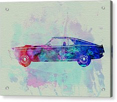 Ford Mustang Watercolor 1 Acrylic Print by Naxart Studio