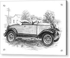 Ford Roadster Acrylic Print by Joe Winkler