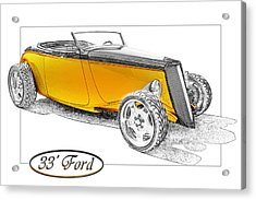 Ford Roadster Acrylic Print by Michael Gass