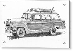Ford Wagon Sketch Acrylic Print