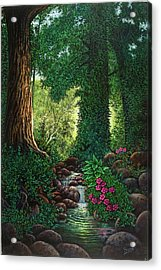 Forest Brook II Acrylic Print by Michael Frank