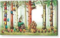 Forest Eggs Acrylic Print by Kestutis Kasparavicius