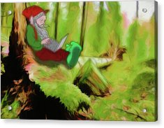 Acrylic Print featuring the digital art Forest Facebook by John Haldane