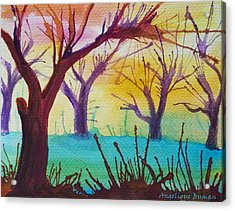 Acrylic Print featuring the painting Forest Fanale by Angelique Bowman