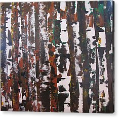 Acrylic Print featuring the painting Forest For The Trees by Gary Smith