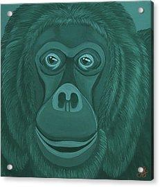 Forest Green Orangutan Acrylic Print