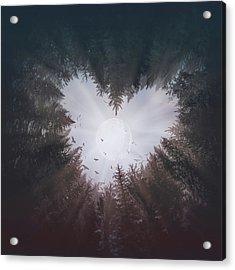 Forest Heart Acrylic Print