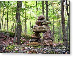 Forest Inukshuk Acrylic Print