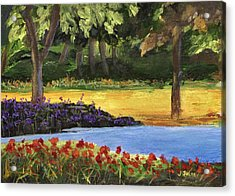 Acrylic Print featuring the painting Forest Lake by Jamie Frier