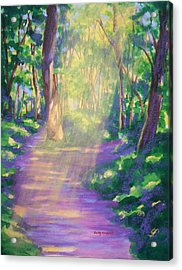 Forest Light Acrylic Print by Becky Chappell