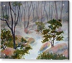 Forest Mist Acrylic Print by Darla Brock