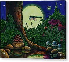 Forest Never Sleeps Chapter- Full Moon Acrylic Print by Michael Frank