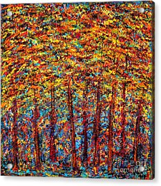 Forest On Fire Acrylic Print by Melanie Dix