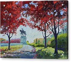 Forest Park Autumn Colors Acrylic Print