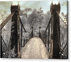 Forest Park Victorian Bridge Saint Louis Missouri Infrared Acrylic Print