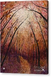 Forest Path Acrylic Print by Hailey E Herrera