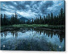 Forest Reflection // Whitefish, Montana  Acrylic Print by Nicholas Parker