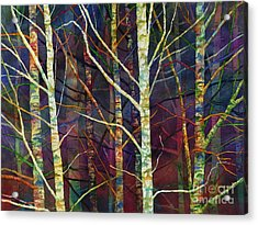 Acrylic Print featuring the painting Forest Rhythm by Hailey E Herrera