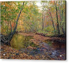 Forest River In Early Fall Acrylic Print