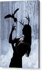 Forest Spirit Acrylic Print by Cambion Art