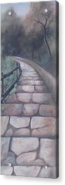 Forest Stairway Down Acrylic Print