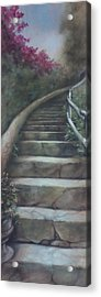 Forest Stairway Up  Acrylic Print