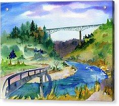 Foresthill Bridge #2 Acrylic Print
