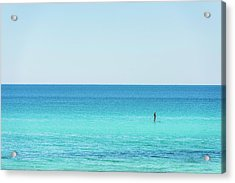 Forever Blue Gulf Paddle Acrylic Print