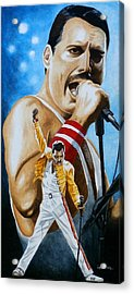 Acrylic Print featuring the painting Forever Freddie Mercury by Al  Molina