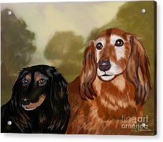 Forever Friends Acrylic Print by Linda Marcille
