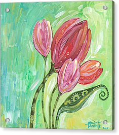 Forever In Bloom Acrylic Print by Tanielle Childers