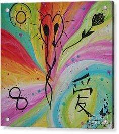 Forever In Love Acrylic Print by Sacred  Muse