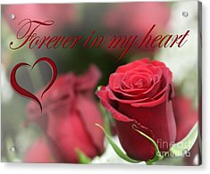 Acrylic Print featuring the photograph Forever In My Heart by DJ Florek