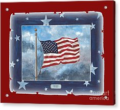 Forever Old Glory  Acrylic Print